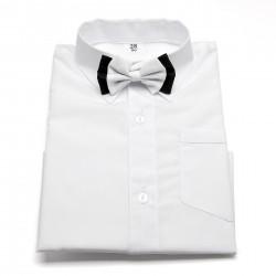 Koszula z muszką w kolorze białym