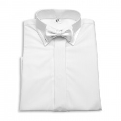 Elegancka koszula z muszką ze zdobieniami