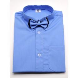 Koszula z muszką w kolorze niebieskim