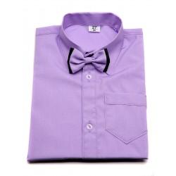 Koszula z muszką w kolorze fioletowym