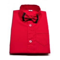 Koszula z muszką w kolorze czerwonym